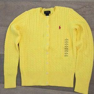 Polo yellow cardigan